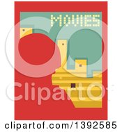 Clipart Of A Flat Design Movies Poster Royalty Free Vector Illustration by BNP Design Studio