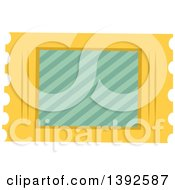 Clipart Of A Flat Design Ticket Stub Royalty Free Vector Illustration