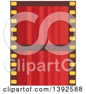 Clipart Of A Flat Design Film Strip Royalty Free Vector Illustration