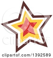 Clipart Of A Flat Design Star Royalty Free Vector Illustration by BNP Design Studio