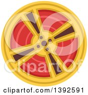 Clipart Of A Flat Design Movie Film Reel Royalty Free Vector Illustration