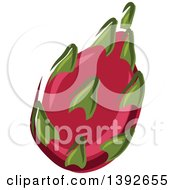 Clipart Of A Pitaya Dragon Fruit Royalty Free Vector Illustration by Vector Tradition SM