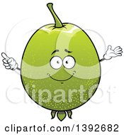 Clipart Of A Guava Fruit Character Royalty Free Vector Illustration by Vector Tradition SM