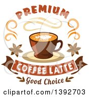 Coffee Latte With Text