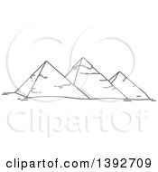 Clipart Of A Gray Sketched Travel Landmark Of Royalty Free Vector Illustration by Vector Tradition SM