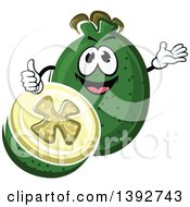 Clipart Of A Feijoa Fruit Or Pineapple Guava Character Royalty Free Vector Illustration
