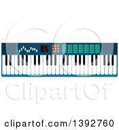Clipart Of A Flat Design Synthesizer Royalty Free Vector Illustration