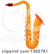 Clipart Of A Flat Design Saxophone Royalty Free Vector Illustration by Vector Tradition SM