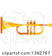 Clipart Of A Flat Design Trumpet Royalty Free Vector Illustration by Vector Tradition SM