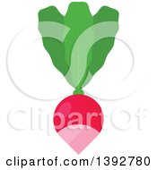 Clipart Of A Flat Design Radish Royalty Free Vector Illustration