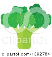 Clipart Of A Flat Design Broccoli Head Royalty Free Vector Illustration by Vector Tradition SM