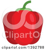 Clipart Of A Flat Design Red Bell Pepper Royalty Free Vector Illustration