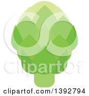 Clipart Of A Flat Design Artichoke Royalty Free Vector Illustration by Vector Tradition SM