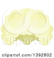 Clipart Of A Flat Design Cauliflower Head Royalty Free Vector Illustration