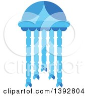 Clipart Of A Flat Design Jellyfish Royalty Free Vector Illustration by Vector Tradition SM