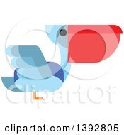 Clipart Of A Flat Design Pelican Royalty Free Vector Illustration by Seamartini Graphics