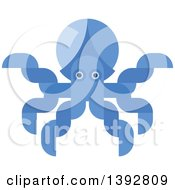 Clipart Of A Flat Design Octopus Royalty Free Vector Illustration by Vector Tradition SM