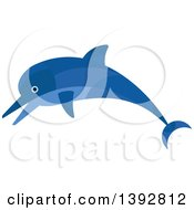 Clipart Of A Flat Design Dolphin Royalty Free Vector Illustration by Vector Tradition SM
