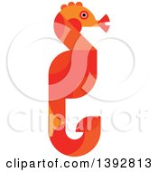 Clipart Of A Flat Design Seahorse Royalty Free Vector Illustration by Vector Tradition SM