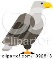 Clipart Of A Flat Design Bald Eagle Royalty Free Vector Illustration