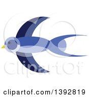 Flat Design Swallow Bird