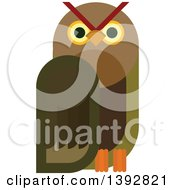 Flat Design Owl