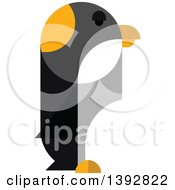 Clipart Of A Flat Design Penguin Royalty Free Vector Illustration
