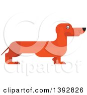 Clipart Of A Flat Design Dachshund Dog Royalty Free Vector Illustration