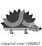 Clipart Of A Flat Design Hedgehog Royalty Free Vector Illustration by Vector Tradition SM