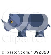Clipart Of A Flat Design Rhinoceros Royalty Free Vector Illustration by Seamartini Graphics