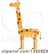 Clipart Of A Flat Design Giraffe Royalty Free Vector Illustration by Vector Tradition SM