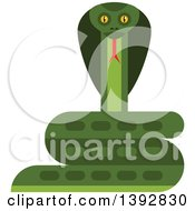 Clipart Of A Flat Design Cobra Snake Royalty Free Vector Illustration