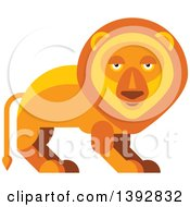 Clipart Of A Flat Design Male Lion Royalty Free Vector Illustration by Seamartini Graphics