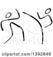 Poster, Art Print Of Black And White Olympic Taekwondo Stick Men