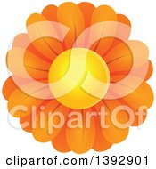 Clipart Of An Orange Daisy Flower Royalty Free Vector Illustration