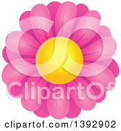 Clipart Of A Pink Daisy Flower Royalty Free Vector Illustration by visekart