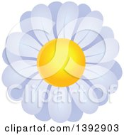 Clipart Of A White Daisy Flower Royalty Free Vector Illustration by visekart
