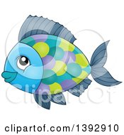 Clipart Of A Colorful Fish Royalty Free Vector Illustration