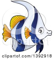 Clipart Of A False Moorish Idol Marine Fish Royalty Free Vector Illustration