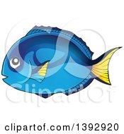 Clipart Of A Hippo Blue Tang Marine Fish Royalty Free Vector Illustration