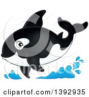 Clipart Of A Killer Whale Orca Royalty Free Vector Illustration