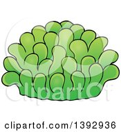 Clipart Of A Green Sea Anemone Royalty Free Vector Illustration