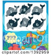 Clipart Of A Snorkel Fish Game Royalty Free Vector Illustration