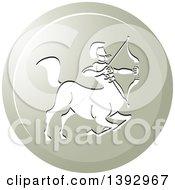 Round Gradient Sagittarius Centaur Archer Horoscope Astrology Icon