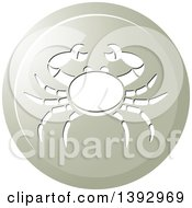Clipart Of A Round Gradient Crab Cancer Horoscope Astrology Icon Royalty Free Vector Illustration