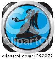 Clipart Of A Silver Blue And Black Virgo Horoscope Astrology Icon Royalty Free Vector Illustration