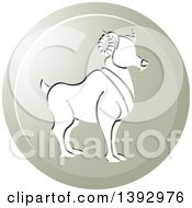Clipart Of A Round Gradient Aries Ram Horoscope Astrology Icon Royalty Free Vector Illustration