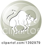 Clipart Of A Round Gradient Taurus Bull Horoscope Astrology Icon Royalty Free Vector Illustration