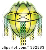 Clipart Of A Green Vesak Lantern Royalty Free Vector Illustration by Lal Perera