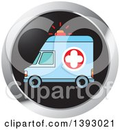Clipart Of A Round Ambulance Website Icon Button Royalty Free Vector Illustration by Lal Perera